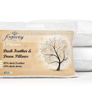 2 x Fogarty Duck Feather & Down Pillows