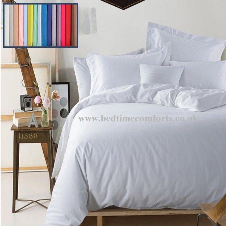 Plain Dye Duvet Covers Bedtime Comforts