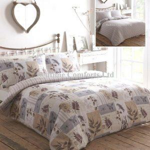 Purple Butterfly, Fern Kestral Duvet Cover + Pillow Case COTTAGE