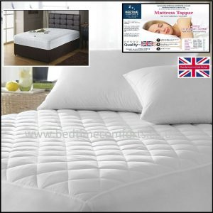 "2' 6"" x Shorty Bed Small Single ""QUILTED"" Fitted Mattress Topper (Boxed Skirt)"