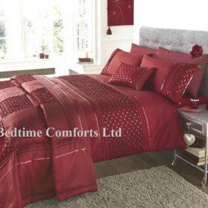 Red Sequin Duvet Cover + 2 Pillow Cases PLUTO