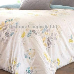 White,Blue,Green,Yellow Floral Duvet Cover + Pillow Case ORLANDO