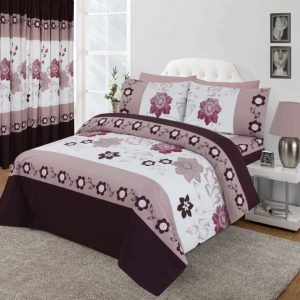 Blackcurrant Floral Design Duvet Cover & Pillowcases SEASONS