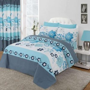 Blue Floral Design Duvet Cover & Pillowcases SEASONS
