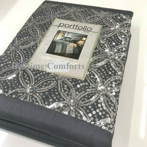 Grey,Silver Sequin Duvet Cover + 2 Pillow Cases JESTER