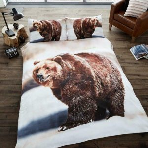 Animal Design Duvet Cover & Pillowcases BEAR 3D