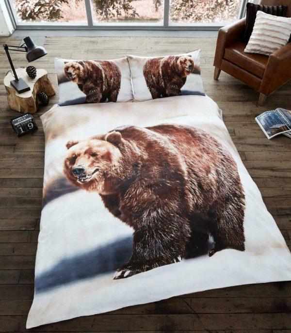 Animal Design Duvet Cover & Pillowcases BEAR 3D