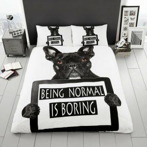 Animal Design Duvet Cover & Pillowcases BLACK BULL DOG 3D