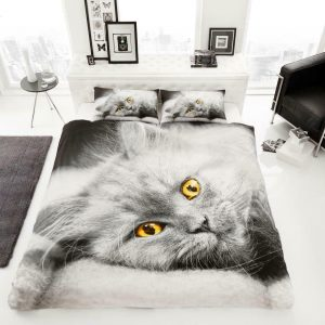 Animal Design Duvet Cover & Pillowcases CAT 3D