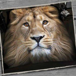Animal Design Duvet Cover & Pillowcases WILD LION 3D