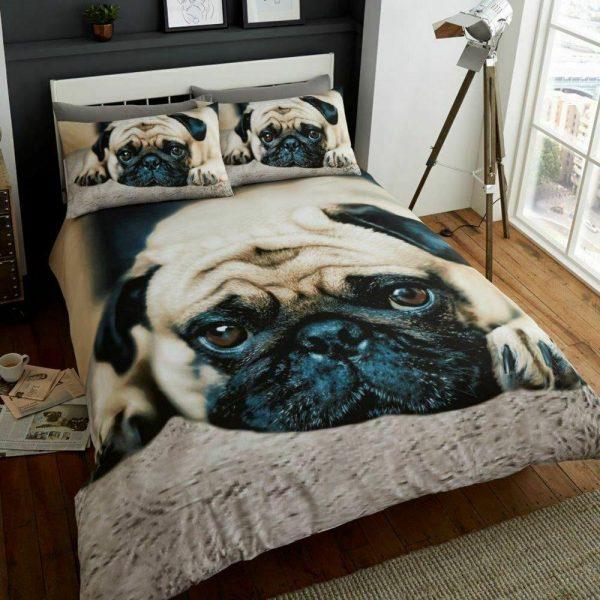 Animal Design Duvet Cover & Pillowcases PUG DOG 3D