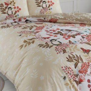 Beige Brown Floral Duvet Cover + Pillowcases WESTON