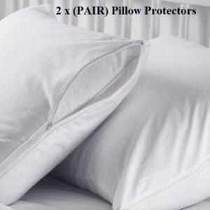 2 x pillow protectors