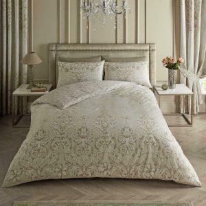 Beige Floral Duvet Cover + Pillowcases ASTORIA