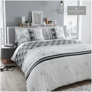 Grey Modern Duvet Cover + Pillowcases MARLOW